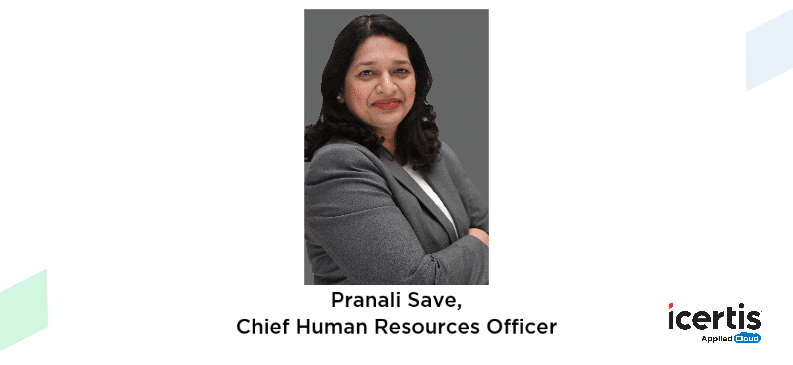 graphic - Pranali Save, Chief Human Resources Officer, Icertis
