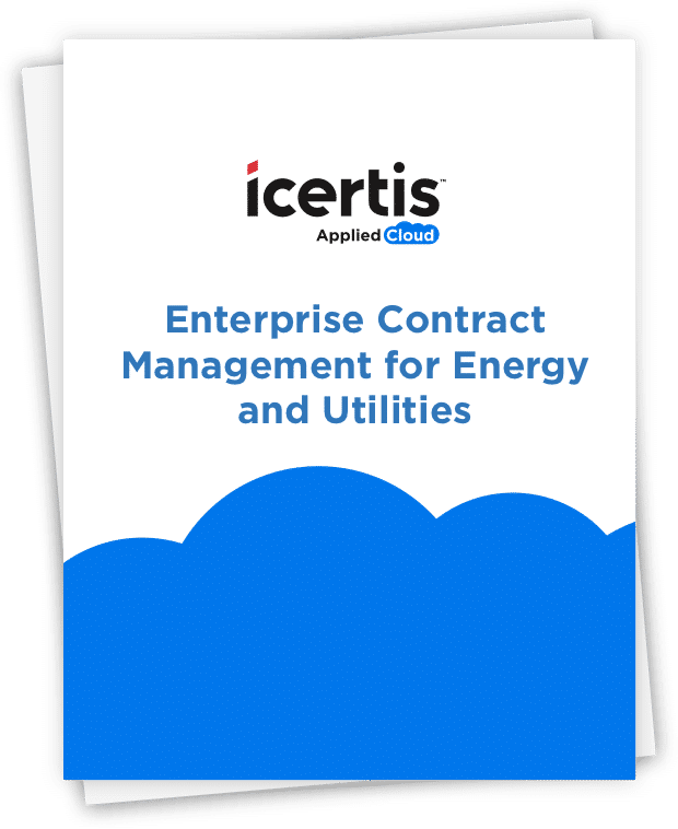 """image of document - """"Icertis - Enterprise Contract Management for Energy and Utilities"""""""