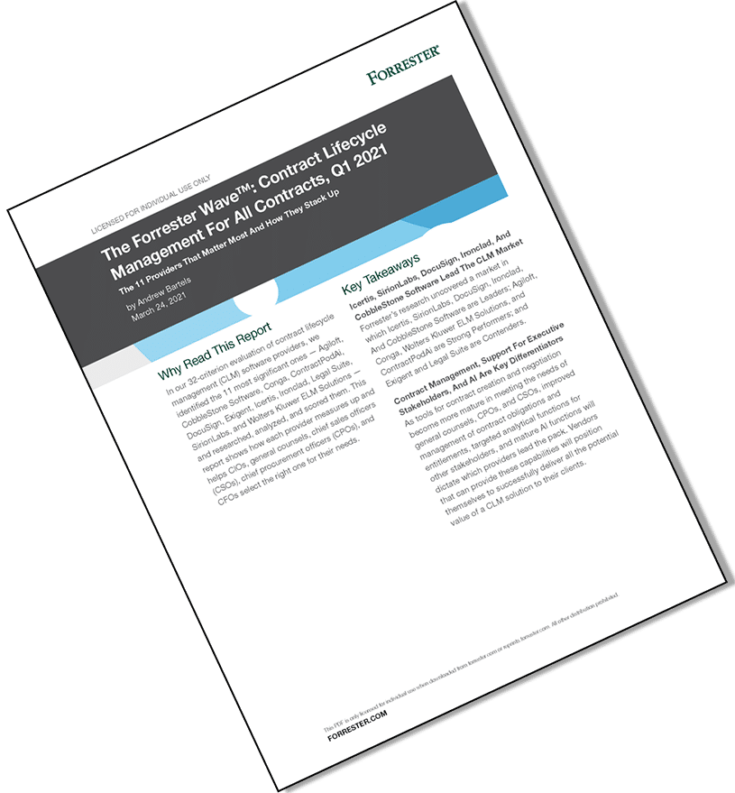 Forrester Wave CLM Q1 2021 Page 1